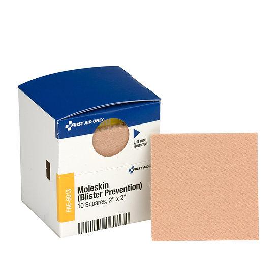 """SC Refill Moleskin (Blister Prevention), 2"""" x 2"""", 10ct FAE6013"""