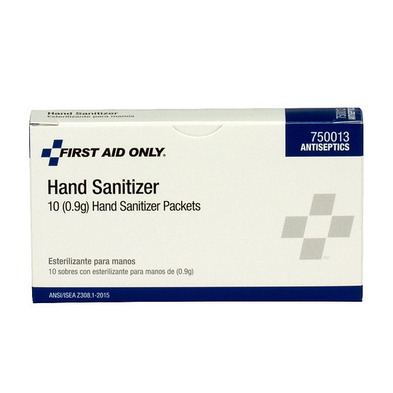 Hand Sanitizer Packets, 10/box 750013