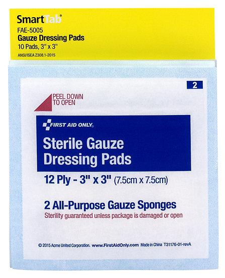 SC Refill Gauze Dressing Pads 3 inch x 3 inch FAE5005