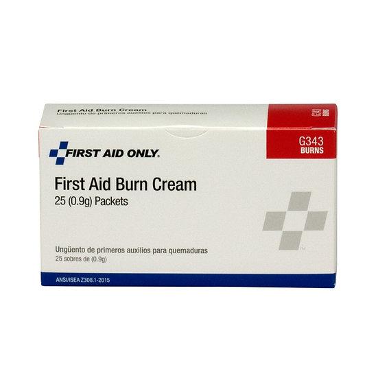 First Aid Burn Cream, 25/box