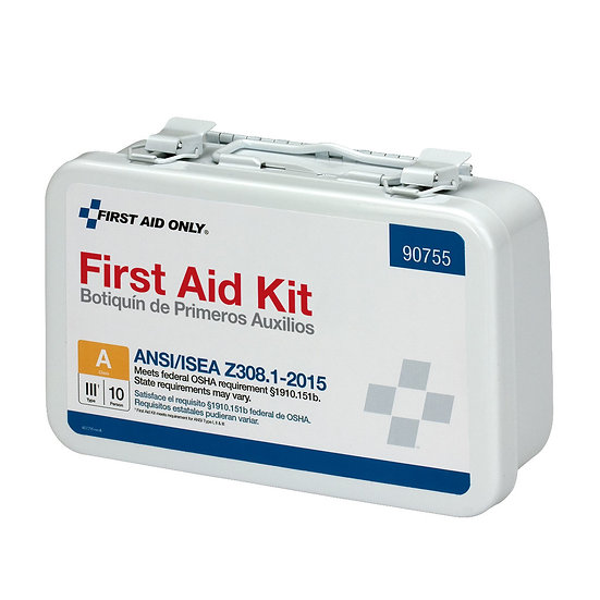 10 Person First Aid Kit, ANSI A, Metal Case 90755