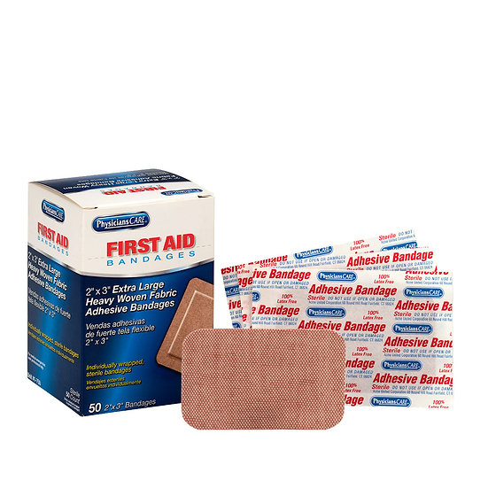 """2""""x3"""" Heavy Woven Fabric Bandages 1-750-001"""