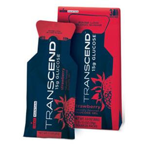 Transcend Glucose Strawberry 15g Gel Squeeze Pouch