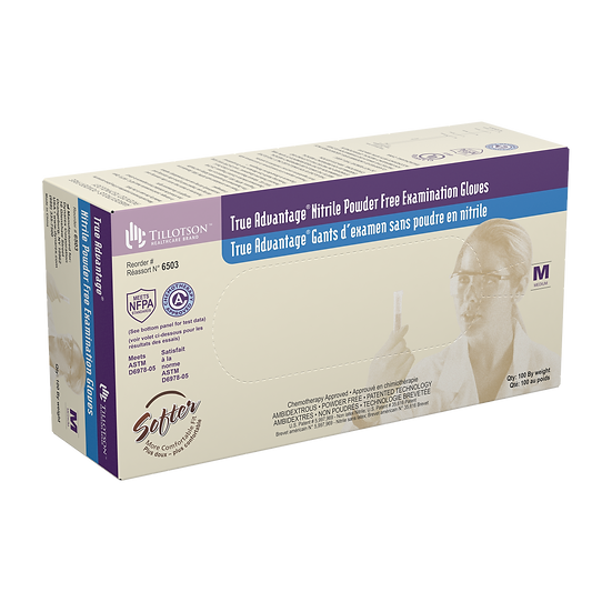 True Advantage� Nitrile Exam Gloves, Powder-Free Medium