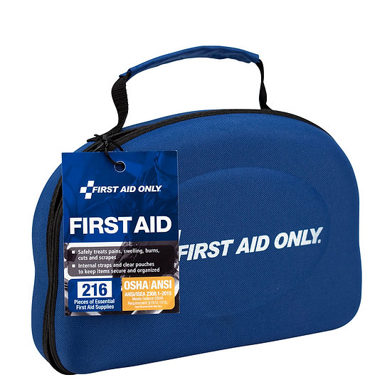50 Person First Aid Kit, ANSI A+, Fabric Hardshell
