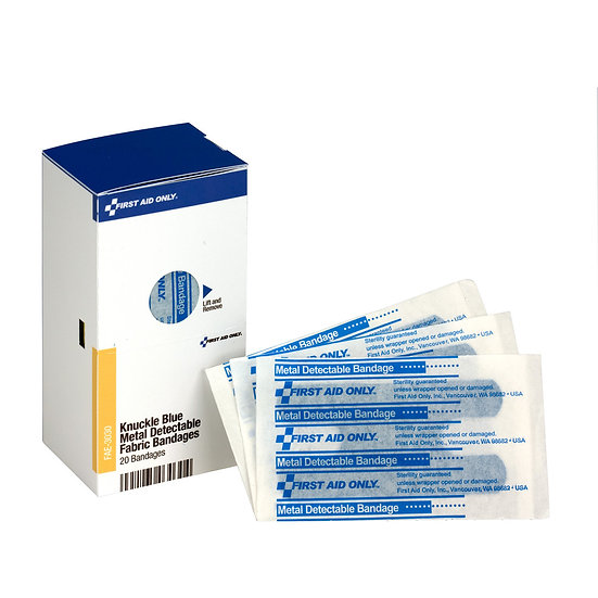 SC Refill Blue Metal Detectable Knuckle Bandages, 20/box FAE3030