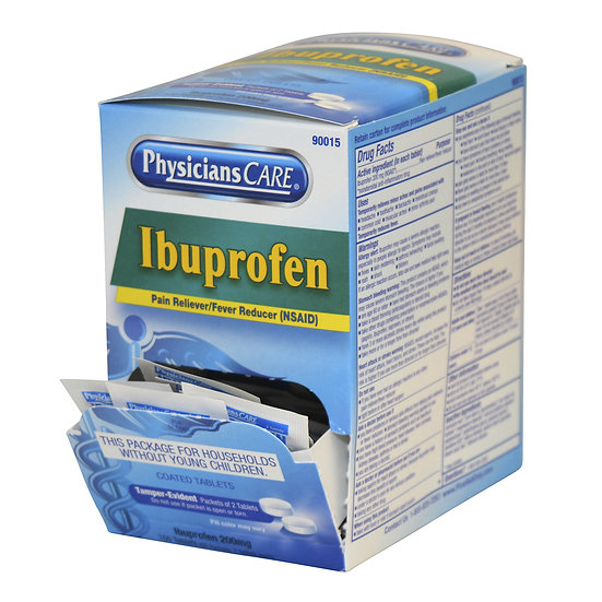 PhysiciansCare Ibuprofen, 50x2/box