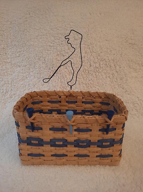 Golfer Mail/Napkin Basket