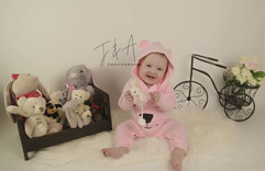 With all Her Favourtie Teddies!