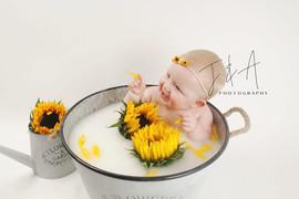 Sunflower Milk Bath