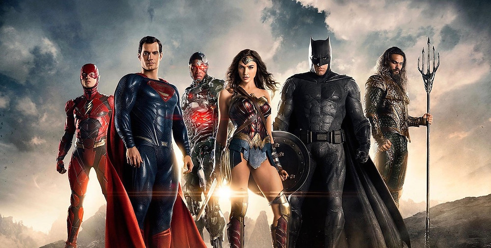 The Justice League assembles on the big screen.