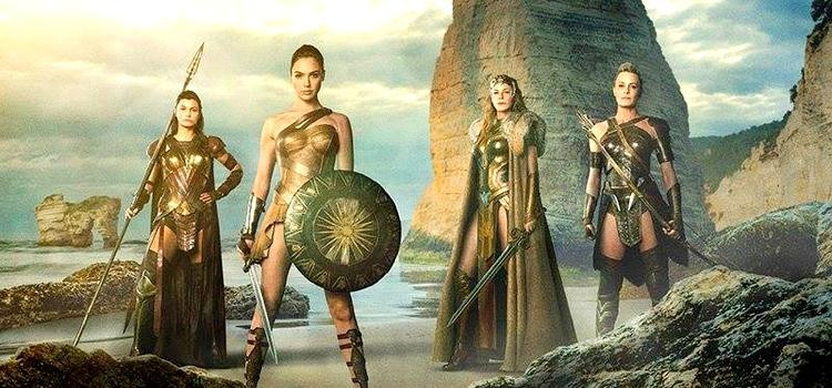The Amazons as they appear in WONDER WOMAN.