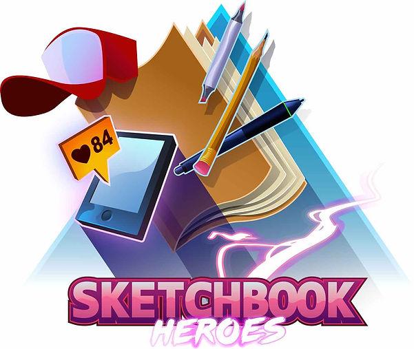 Sketchbook Heroes Art Podcast logo