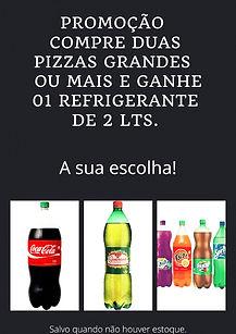 Promoção Pizzas + Refrigerante