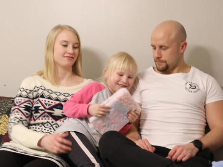 Jarkko, Jenni ja Isla ovat viihtyneet Puolangalla hyvin