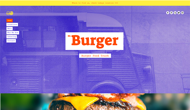 Restaurace website templates – Food Truck