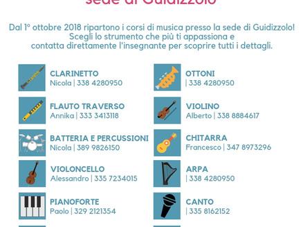 Corsi di Musica 2018/2019 a Guidizzolo