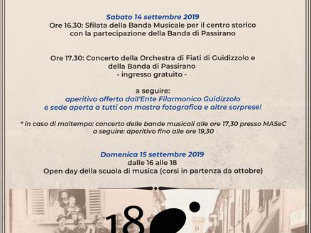 Sabato 14 e domenica 15 settembre 2019: Ente Filarmonico in festa!