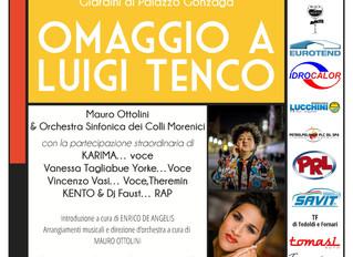 Mercoledì 9 Agosto: Omaggio a Luigi Tenco a Volta Mantovana