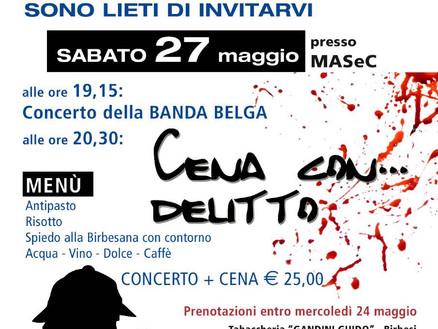 27 maggio 2017: concerto di gemellaggio e cena con delitto