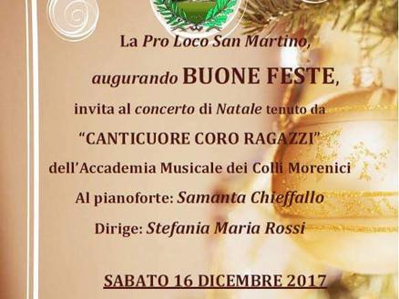 16 dicembre 2017: concerto Canticuore a San Martino dall'Argine