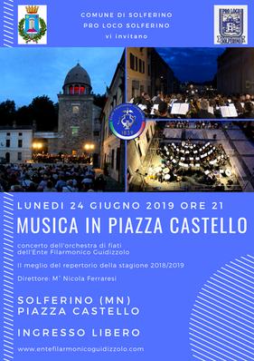 Lunedì 24 giugno 2019: Musica in Piazza Castello
