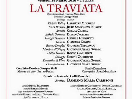 """18 Marzo 2016: Orchestra Sinfonica ne """"La Traviata"""" al Teatro San Giovanni Bosco (Bergamo)"""