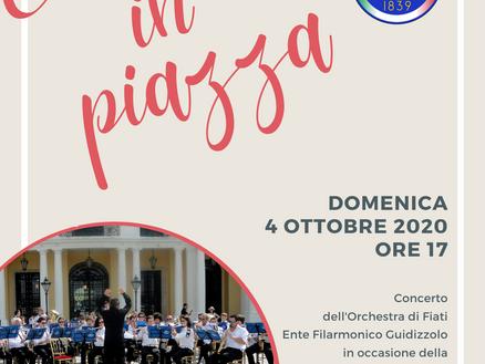 Concerto in piazza: domenica 4 ottobre 2020