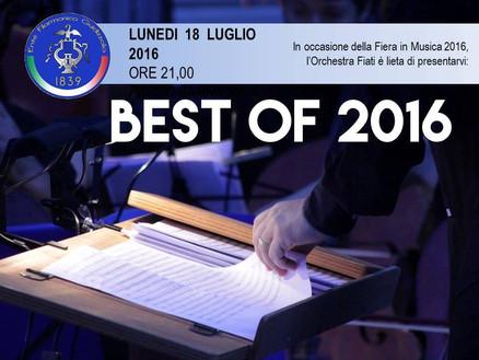 Lunedì 18 luglio 2016 ore 21: BEST OF 2016