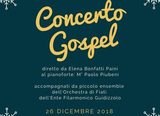 26 Dicembre 2018: Concerto Gospel