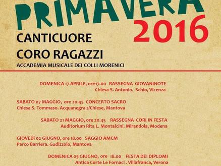 Programma concerti primavera 2016 - Coro Canticuore