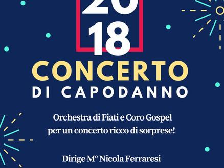 1 gennaio 2018: Concerto di Capodanno dell'Orchestra Fiati