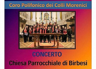 Sabato 21 Maggio: Coro Polifonico alla Chiesa Parrocchiale di Birbesi