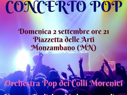Domenica 2 settembre: Concerto Pop a Monzambano