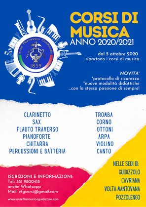 Corsi di musica 2020/2021