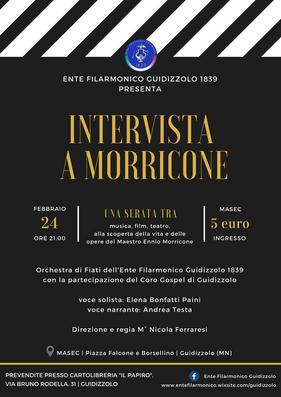 Sabato 24 Febbraio 2018: Intervista a Morricone | concerto a Guidizzolo