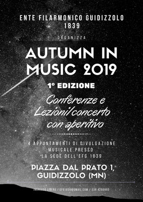 Sabato 9 novembre: ultimo appuntamento di Autumn in Music 2019