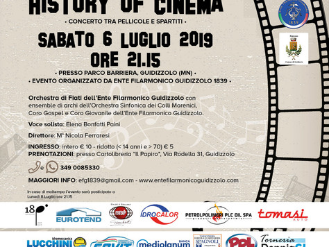 Sabato 6 luglio 2019: History of cinema