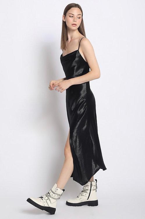 All Black Silk Dress