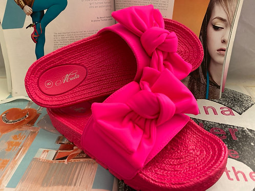 Neon Pink Slippers