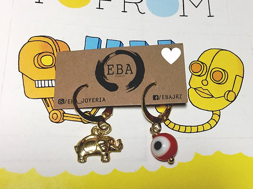 EBA piercing elephant evil eye