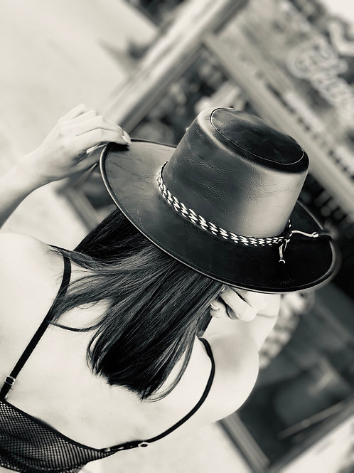 Indie Faux Leather Hat