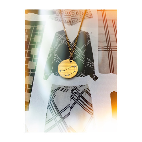 Tassel Constellation Zodiac Necklace - Libra