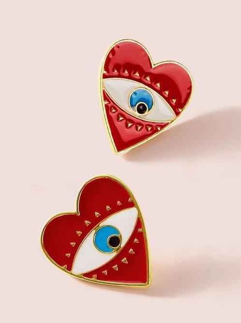 Le Indie Eye Heart Earrings