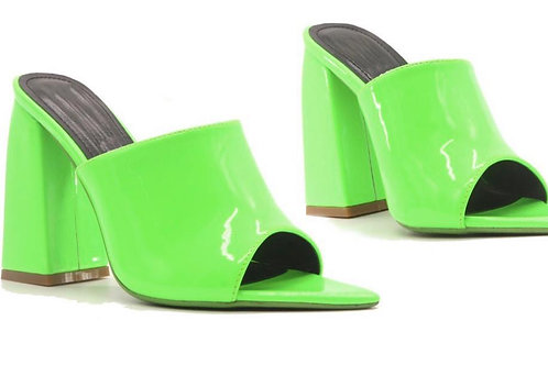 Jelly Green Mules