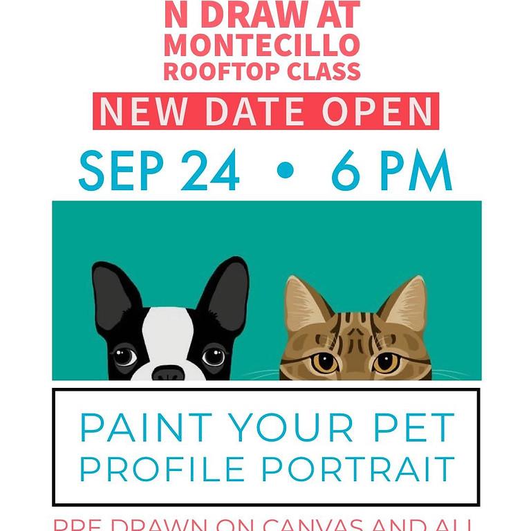 Pet Portrait Drink & Draw