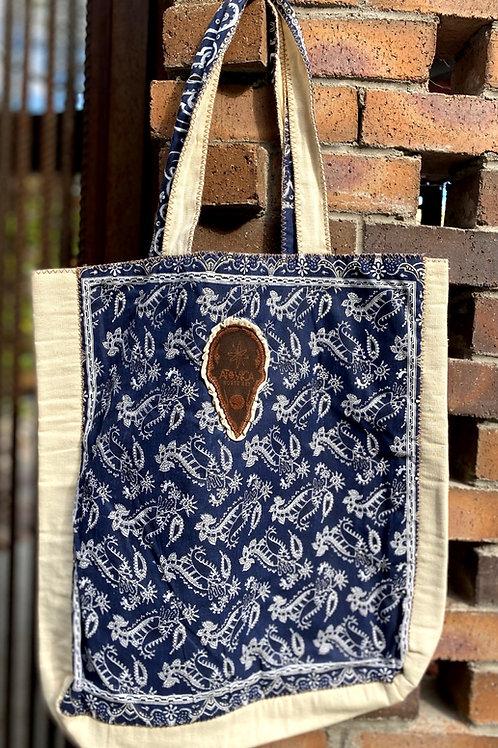 Atómica Blue Sarape Handbag