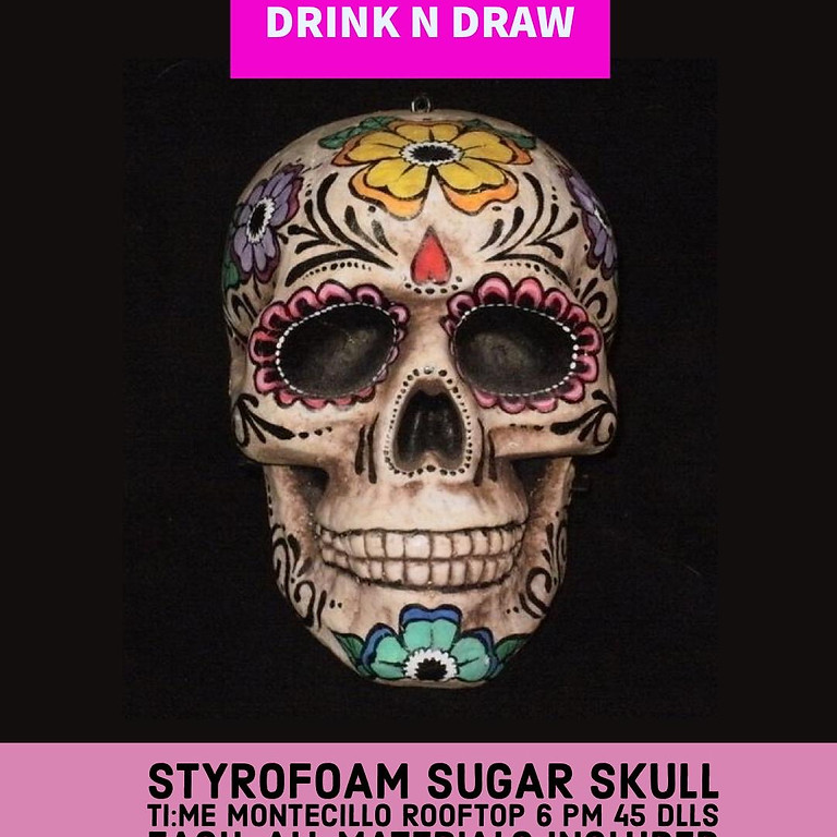 Styrofoam Sugar Skull