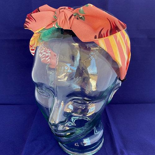 Pink Tropical Bow Headband