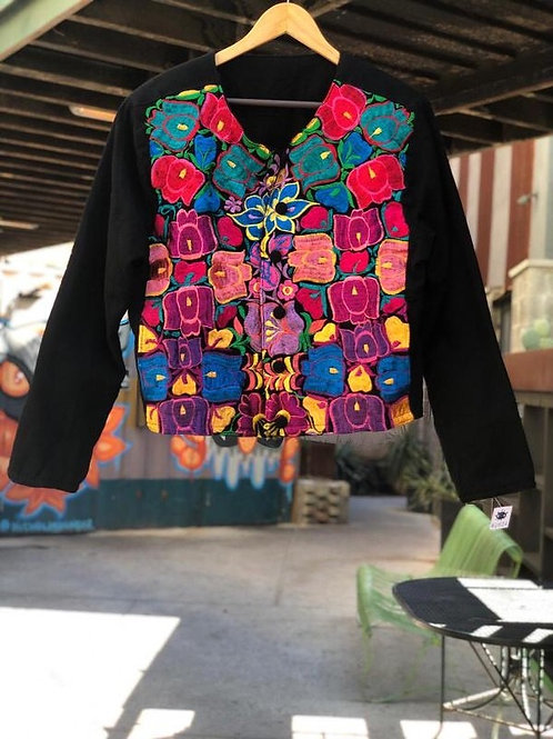 Floral Chiapas Embroidered Jacket